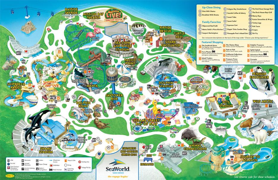 sea world map pdf Park Map Seaworld San Diego